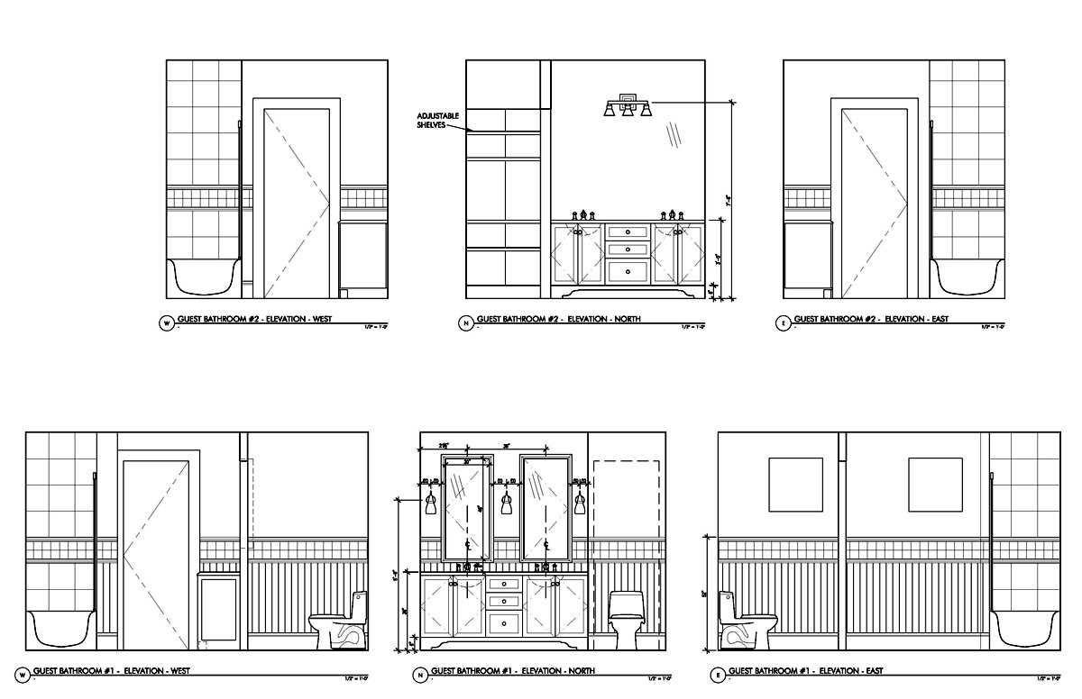 Toilet Elevation Plan : French home front elevations joy studio design gallery