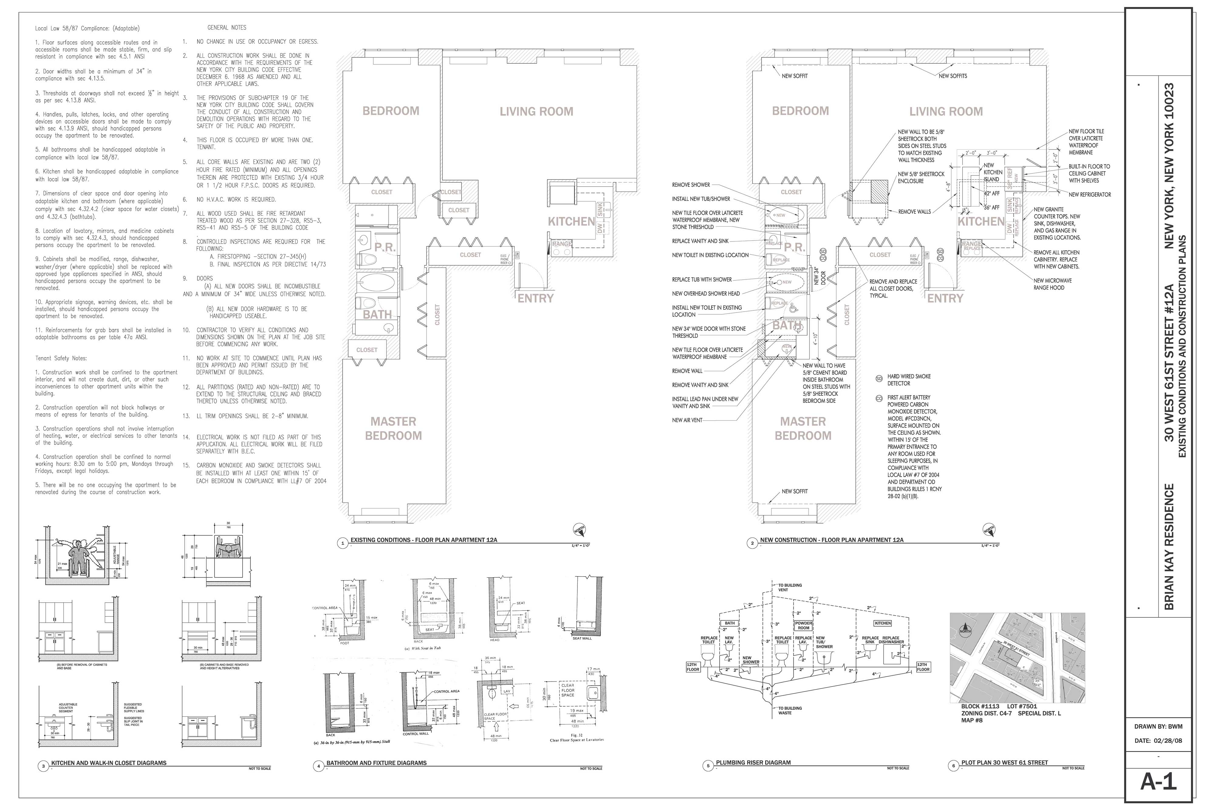 Residential Construction Document Set On One Sheet